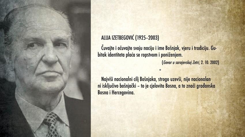 Alija Izetbegovic nacija Bosnjak