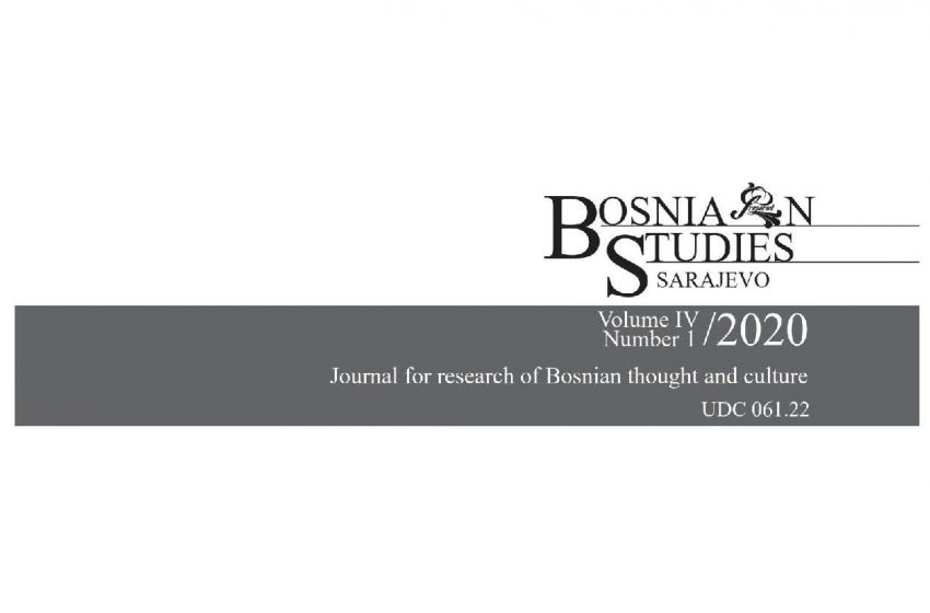 Objavljen novi broj Bosanskih studija