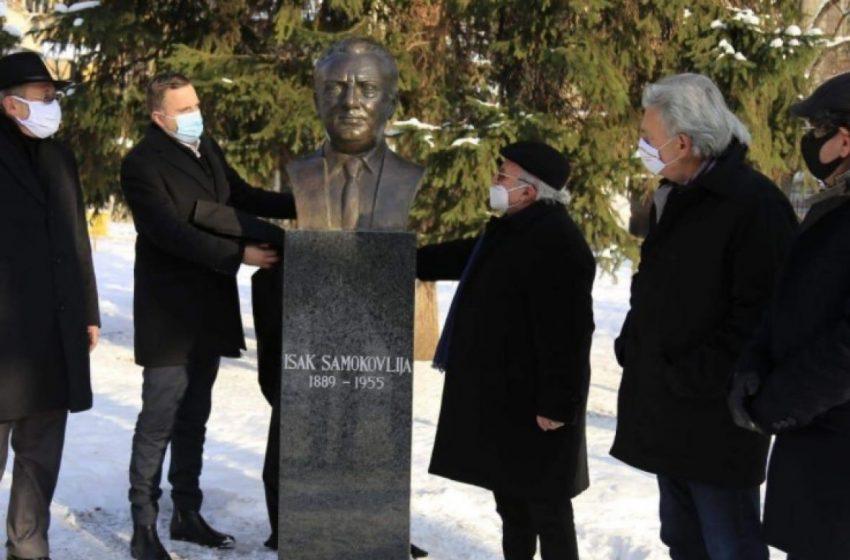 Ponovo postavljena bista Isaku Samokovliji na Trgu Oslobođenja – Alija Izetbegović