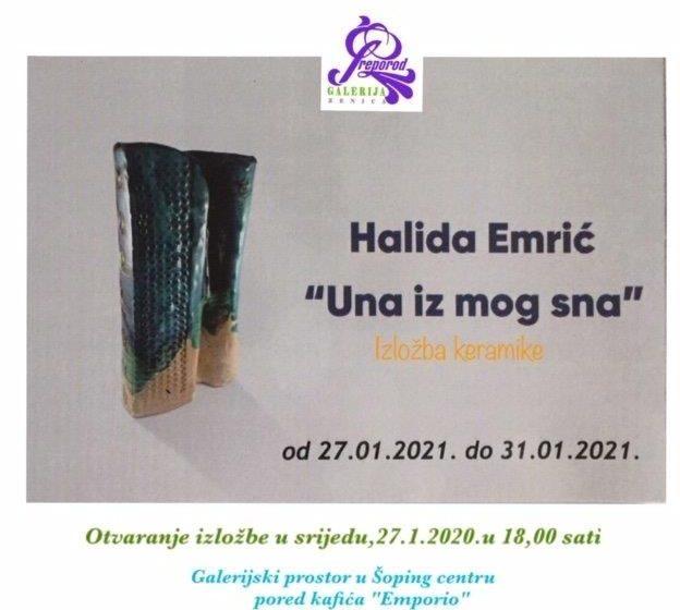 """Izložba keramike """"Una iz mog sna"""" autorice Halide Emrić"""