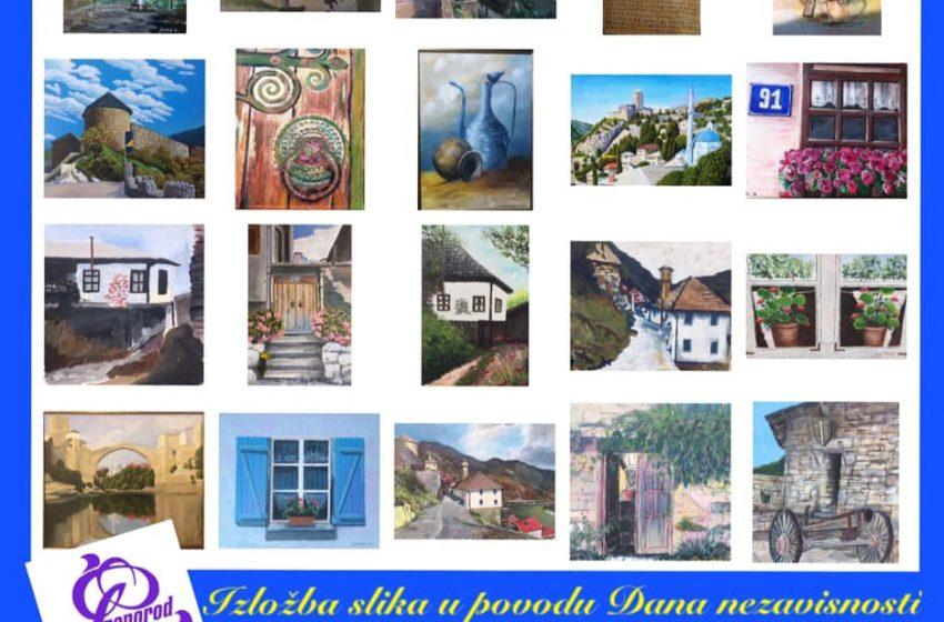 """Izložba slika u Galeriji """"Preporod"""" Zenica povodom Dana nezavisnosti BiH"""