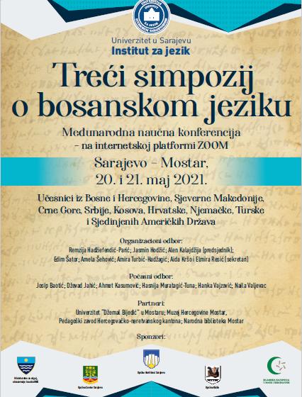 Treći simpozij o bosanskom jeziku 20. i 21. maja 2021. godine