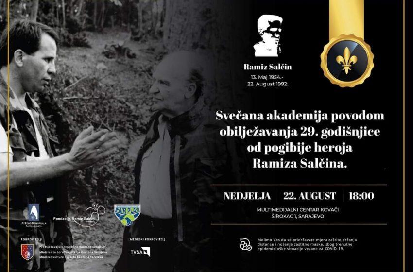 Svečana akademija povodom obilježavanja 29. godišnjice pogibije heroja Ramiza Salčina